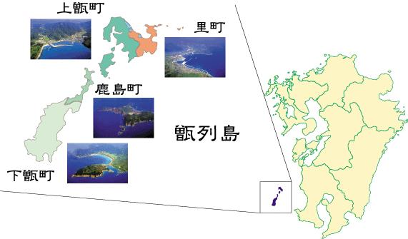甑島マップ